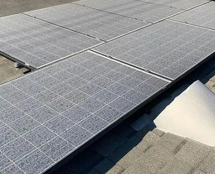 Image of a Solar Panel Before Cleaning