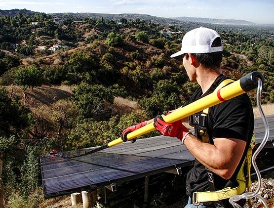 Clean Solar Panels In California